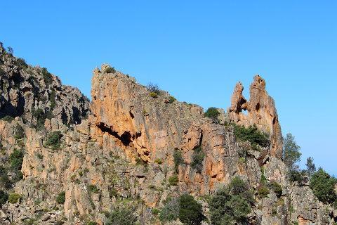 heart shaped rocks in Calanches de Piana