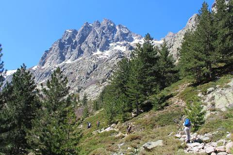hiking along the GR20 in Corsica