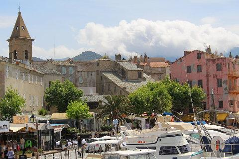 cafes and boats in Saint Florent